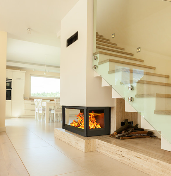 Fireplace Staircase