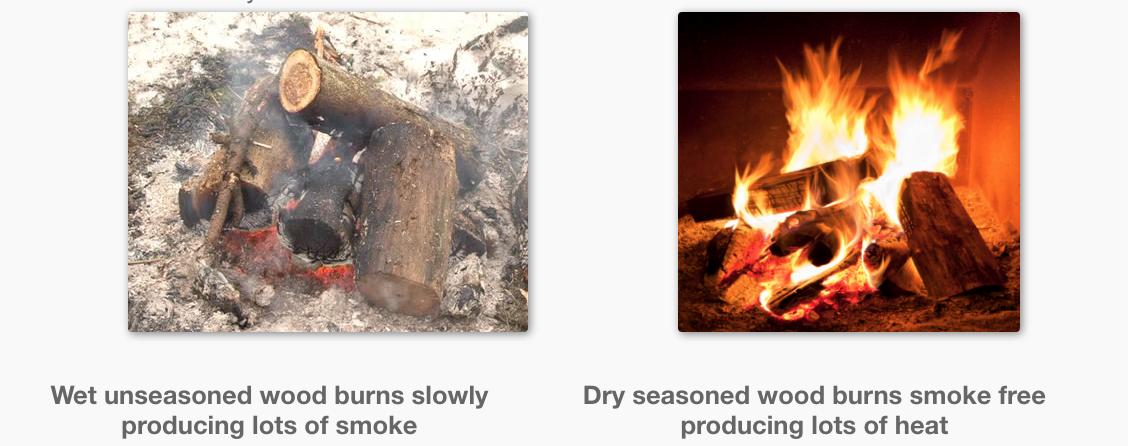Burning Freshly Cut Wood - Heating With Wood