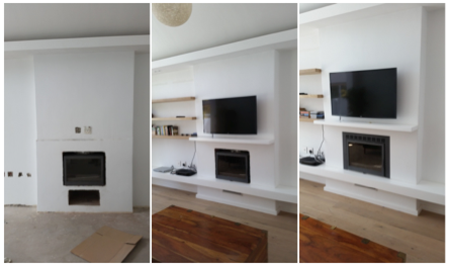 Closed combustion fireplace in Rondebosch - Installations