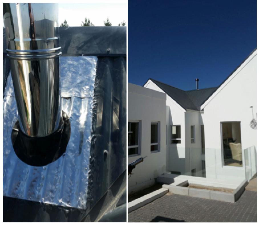 Free-standing fireplace installation in Stellenbosch - Installations