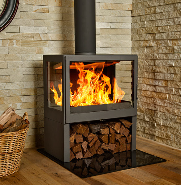 The L71 Lr Bavorov Side Glass Freestanding Fireplace Hydrofire